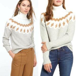 J.Crew Fair Isle Turtleneck Sweater Supersoft Yarn